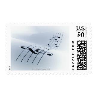 Line of Music Postage