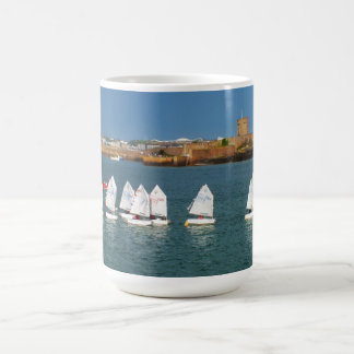 Line of Optimist boats Classic White Coffee Mug