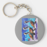 LINE OF PELICANS KEY CHAIN