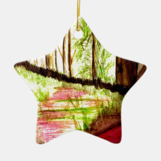 Line of Products Forests Ceramic Ornament