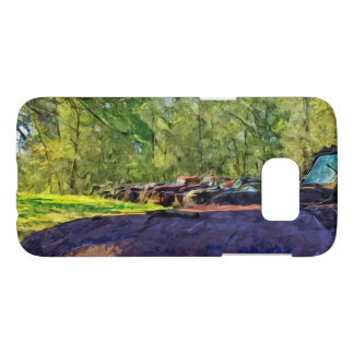 Line of Rusty Old Cars and Trucks Abstract Samsung Galaxy S7 Case