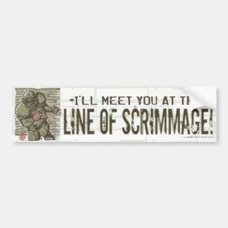 Line of Scrimmage! Bumpersticker Bumper Sticker