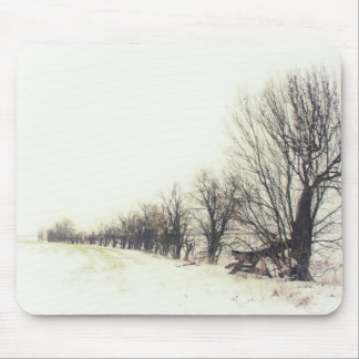 Line of Trees in the Snow Mousepads