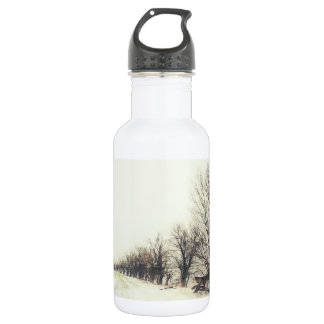 Line of Trees in the Snow 18oz Water Bottle