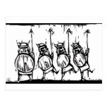 Line of Vikings Postcard