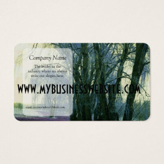 Line of Weeping Willow Trees Business Card
