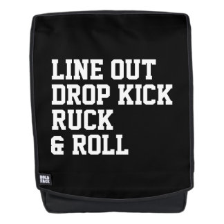 Line Out Drop Kick Ruck And Roll Backpack