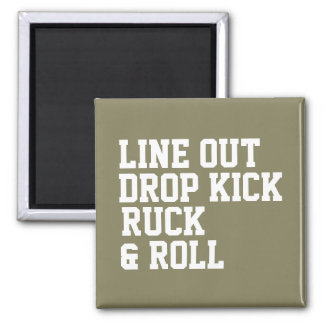 Line Out Drop Kick Ruck And Roll Magnet