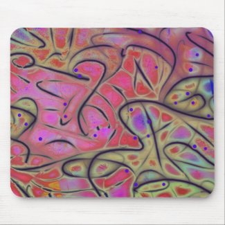 Line Play 17 Vivid Cheerful Abstract Mousepad
