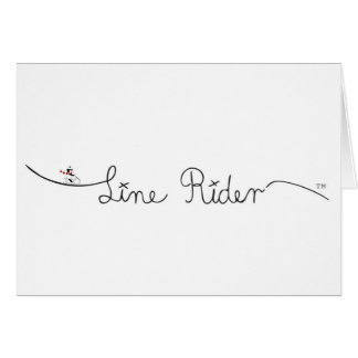 Line Rider Original Logo Greeting Cards