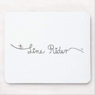 Line Rider Original Logo Mouse Pad