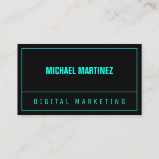 Line split neon color modern business card