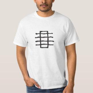Line Stack, Black T-Shirt