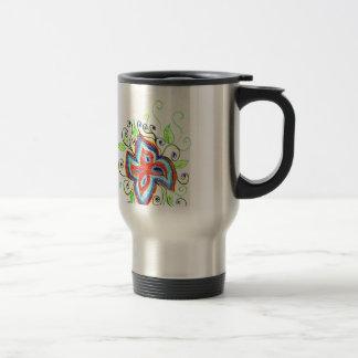 Line Tatoo Flower Travel Mug