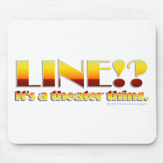 Line Text Only Mouse Pads