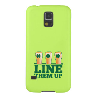 Line them UP green pints Irish Beer Galaxy S5 Case