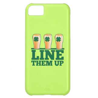 Line them UP green pints Irish Beer Case For iPhone 5C