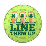 Line them UP green pints Irish Beer Dart Boards