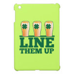 Line them UP green pints Irish Beer iPad Mini Case