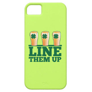 Line them UP green pints Irish Beer iPhone SE/5/5s Case