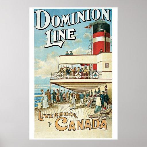 Línea 1904 del dominio del vintage anuncio del via poster