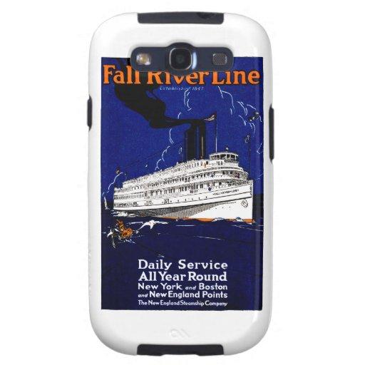 Línea 1910 de buque de vapor de Fall River Galaxy S3 Fundas