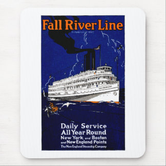 Línea 1910 de buque de vapor de Fall River Alfombrillas De Raton