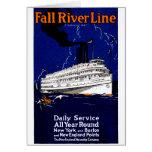 Línea 1910 de buque de vapor de Fall River Felicitacion