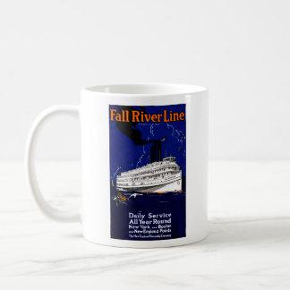 Línea 1910 de buque de vapor de Fall River Taza