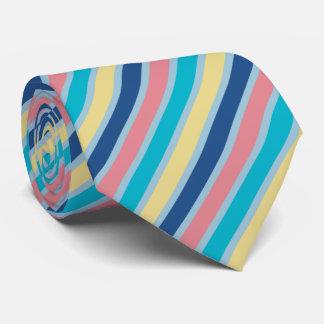 Línea 2015 de la primavera de las rayas corbata personalizada