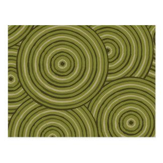 Línea aborigen pintura postal