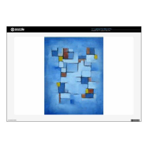 Línea abstracta azul 2 de la serie portátil skin