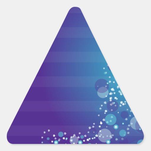 Línea abstracta azul diseño del círculo pegatinas trianguladas