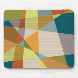 Línea abstracta modelo con colores retros tapete de raton