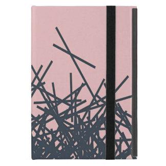 Línea abstracta moderna oscura de moda elegante iPad mini cárcasas