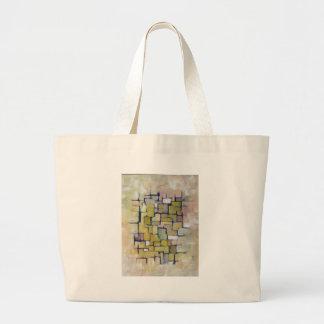 Línea abstracta serie 1 bolsa tela grande