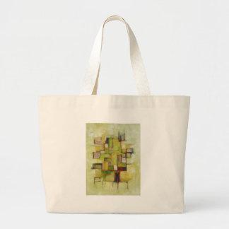 Línea abstracta serie 3 bolsa tela grande