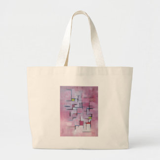 Línea abstracta serie 4 bolsa tela grande