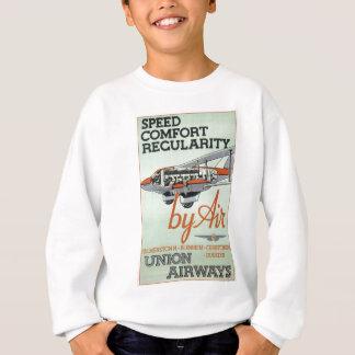 Línea aérea de los años 30 del vintage sudadera