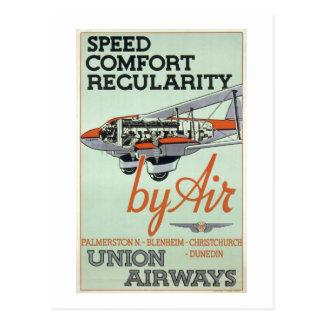 Línea aérea de los años 30 del vintage tarjeta postal
