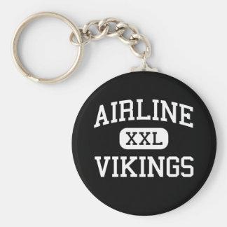 Línea aérea - Vikingos - alta - una ciudad mas man Llavero Redondo Tipo Pin