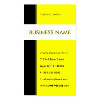 línea aerodinámica amarilla tarjetas de visita