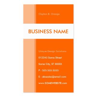 línea aerodinámica del naranja tarjetas de visita