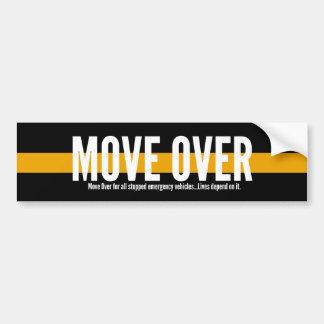 Línea amarilla fina movimiento sobre pegatina para pegatina para coche