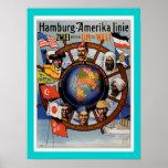 Línea americana poster de Hamburgo