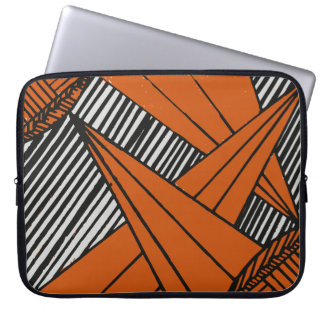 Línea anaranjada abstracta diseño funda ordendadores