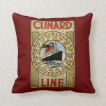 Línea anuncio de Cunard de la línea de cruceros de Almohada