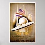 Línea anuncio de Holanda América de la nave del vi Impresiones