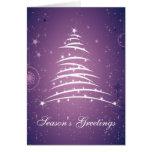 Línea árbol de navidad 2 de los saludos de la esta tarjetas