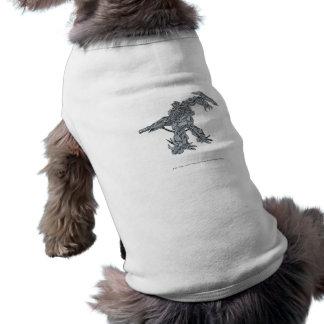 Línea arte 2 de la onda de choque camiseta de perrito